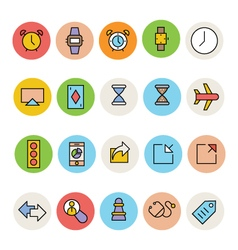 Basic colored icons 2 vector