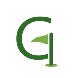 Letter G and golf logo or icon design template vector image