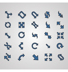 Arrows signs isolated on grey background vector image