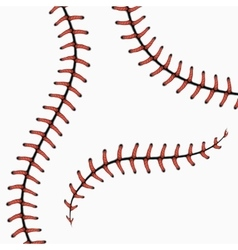 Baseball stitches softball laces isolated on vector
