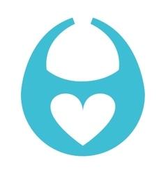 bib baby heart icon vector image