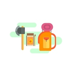 Camping Equipment Set vector image vector image