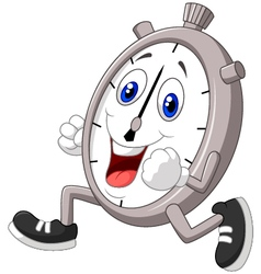 Cartoon stopwatch running vector