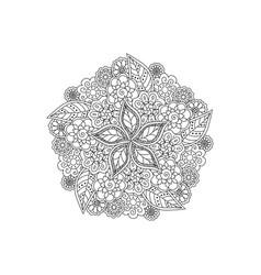 deco black floral mandala patterned design vector image