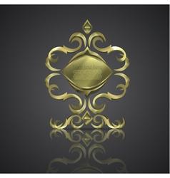 Decorative shiny banner logo vector