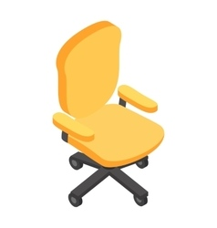 Desk chair isometric 3d icon vector