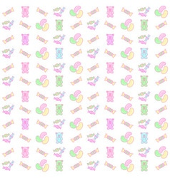 gummy bear and candy seamless pattern vector image