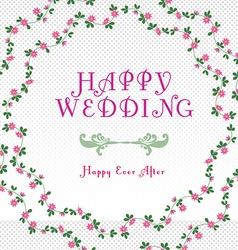 Happy wedding templates vector