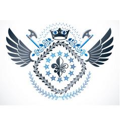 Heraldic coat of arms decorative emblem vector