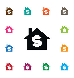 Isolated sell icon house element can be vector