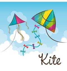Kite flying in the sky vector