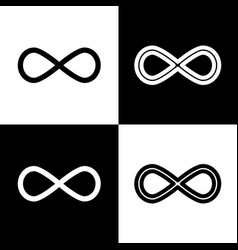 limitless symbol black and vector image vector image