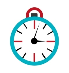 Orbed clock time concept graphic vector