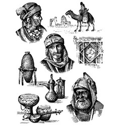 Orient collection middle east - hand drawn set of vector