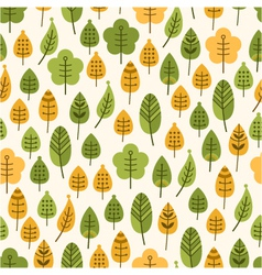 seamless background with leaves leaf fall vector image