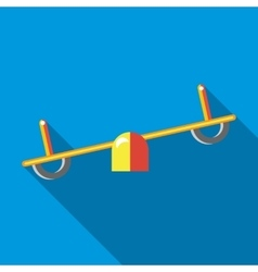 Seesaw icon in flat style vector image