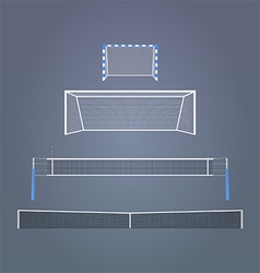 Sports gates and nets vector