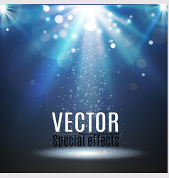 spotlight light effectscene illumination vector image vector image