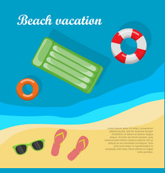Summertime and beach vacation posters vector
