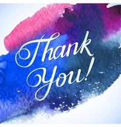 THANK YOU hand lettering custom handmade vector image vector image