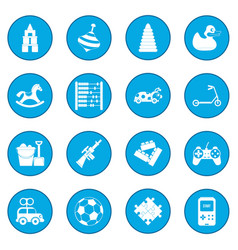 Toys icon blue vector