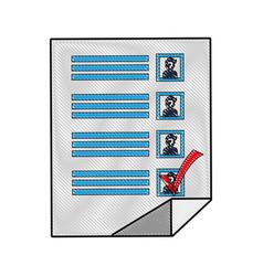 voting checklist design vector image