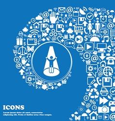 Spotlight icon Nice set of beautiful icons vector image