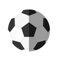 Balloon soccer isolated icon vector