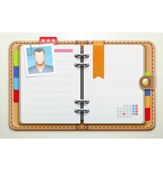 personal organiser vector image