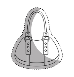 Female bag isolated icon vector