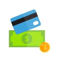 Money card isolated vector