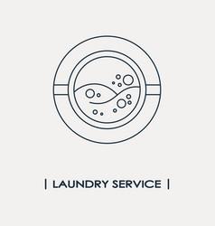 Laundry service logo vector