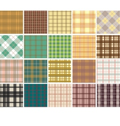Plaid seamless patterns vector