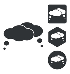 Thoughts icon set monochrome vector