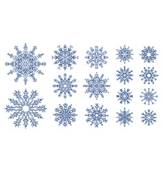 Snowflakes isolated on white background vector
