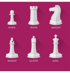 White chess figures vector