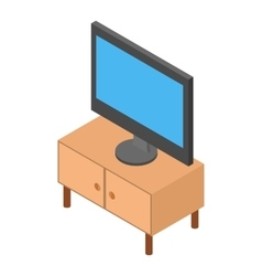 Tv on the nightstand isometric vector