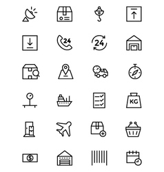 Global logistics line icons 2 vector