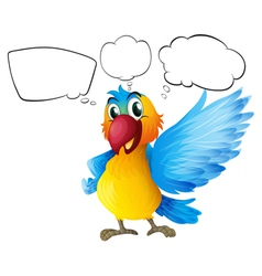 A parrot with empty callouts vector image vector image