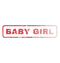 Baby girl rubber stamp vector