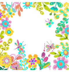 bright colorful floral background for beautiful vector image vector image