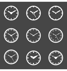Clock Icon Set - Isolated vector image vector image