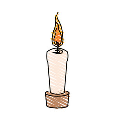 Color crayon stripe cartoon decorative candle spa vector