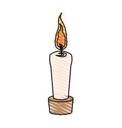 color crayon stripe cartoon decorative candle spa vector image vector image