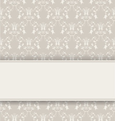 damask retro background vector image vector image