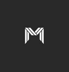 Elegant letter m logo monogram design luxury vector