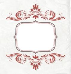 Elegant vintage invitation card or banner vector