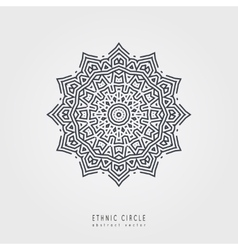 Ethnic mystical pattern with triangle and circles vector image vector image