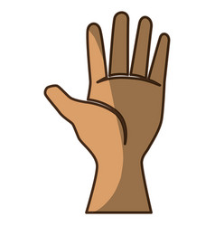 hand with palm open vector image vector image