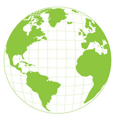 Isolated world map vector